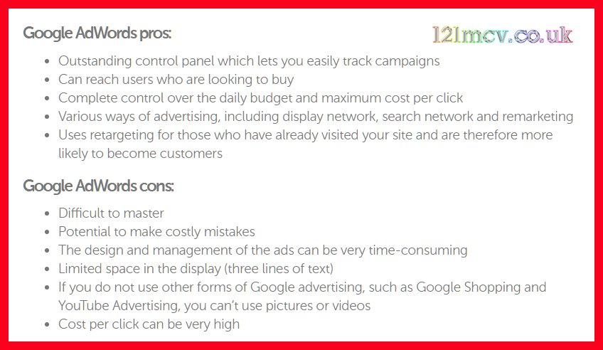 Google Adwords Pros and Cons