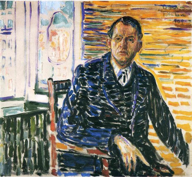 Эдвард Мунк - «Автопортрет в больнице профессора Якобсона» (1909)