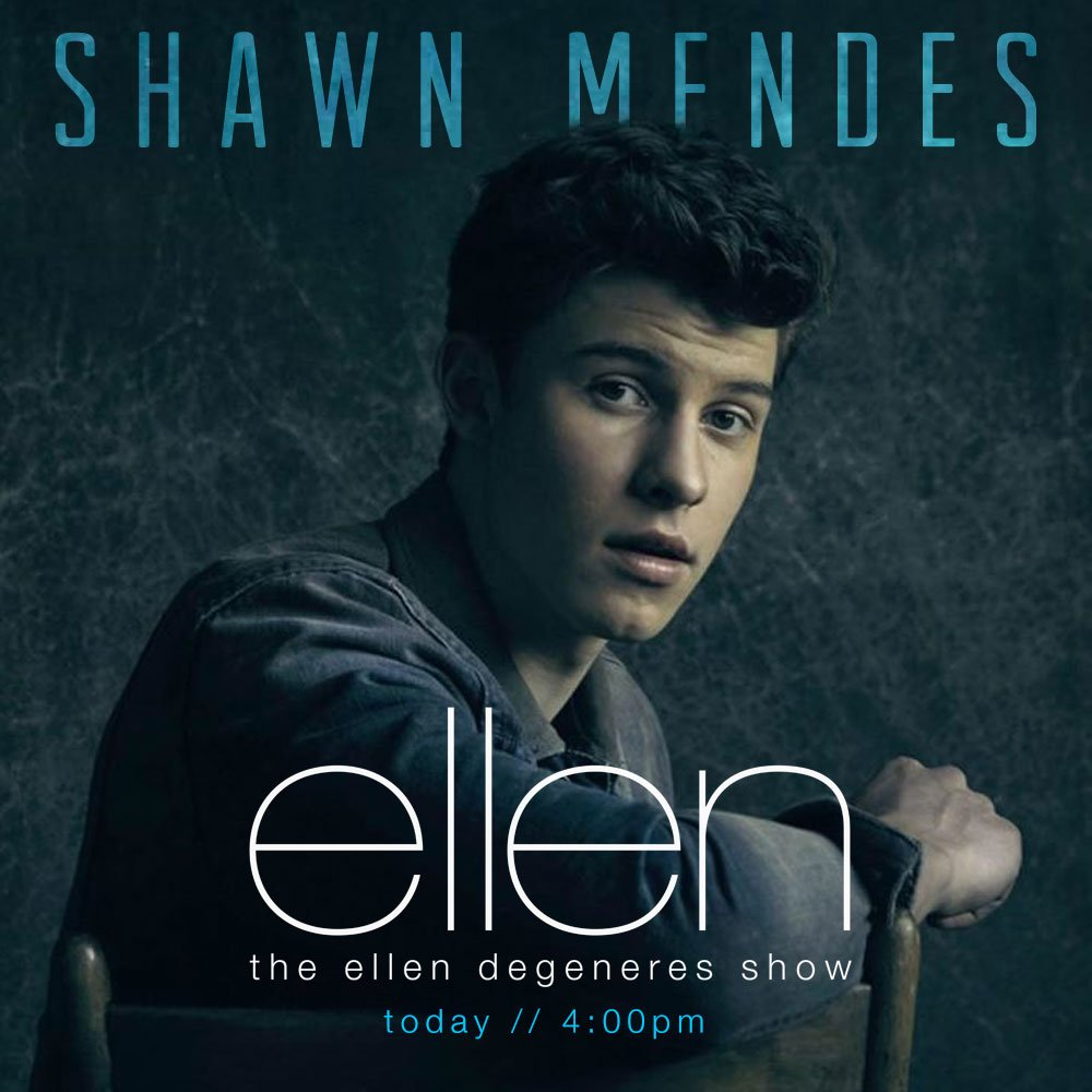 Be sure to watch @theEllenShow today! @ShawnMendes is performing #Mercy