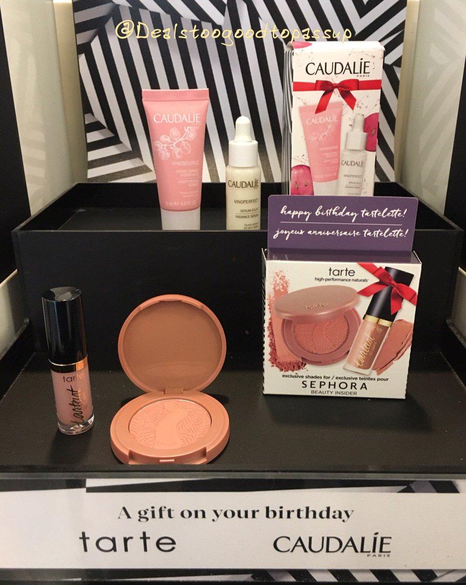 Three #Sephora options for 2017 #BirthdayGift From #Caudalie #Tarte and #JackBlack.…  http:// dealstoogoodtopassup.com/2017/01/03/thr ee-options-for-the-sephora-2017-birthday-gift-from-caudalie-tarte-and-jack-black &nbsp; … <br>http://pic.twitter.com/tRO6jkXKby