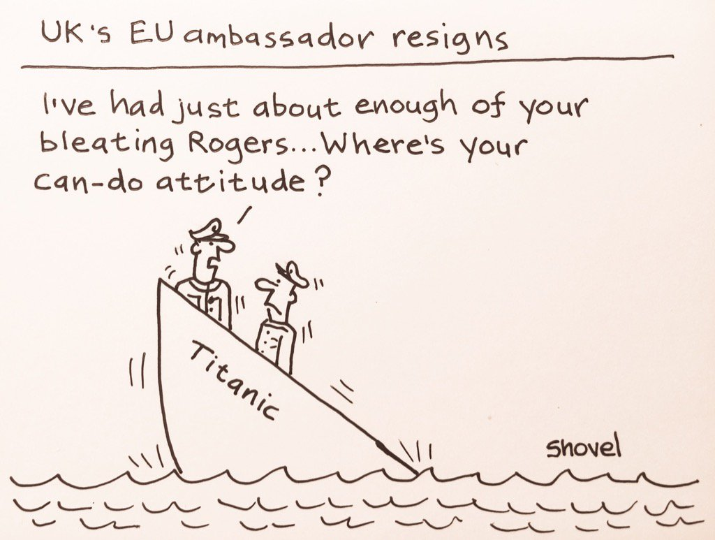 My cartoon - UK's EU ambassador Sir Ivan Rogers resigns #May #Brexit  #r4Today   https://t.co/FIS7gDihsZ
