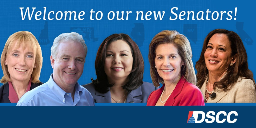 Welcome to our new Democratic Senators! Show you have their backs for the fights ahead -->