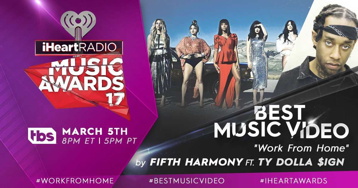 Vote for @FifthHarmony #WorkFromHome  #BestMusicVideo using #iHeartAwards + the other hashtags! https://t.co/QzVZDX5QJz