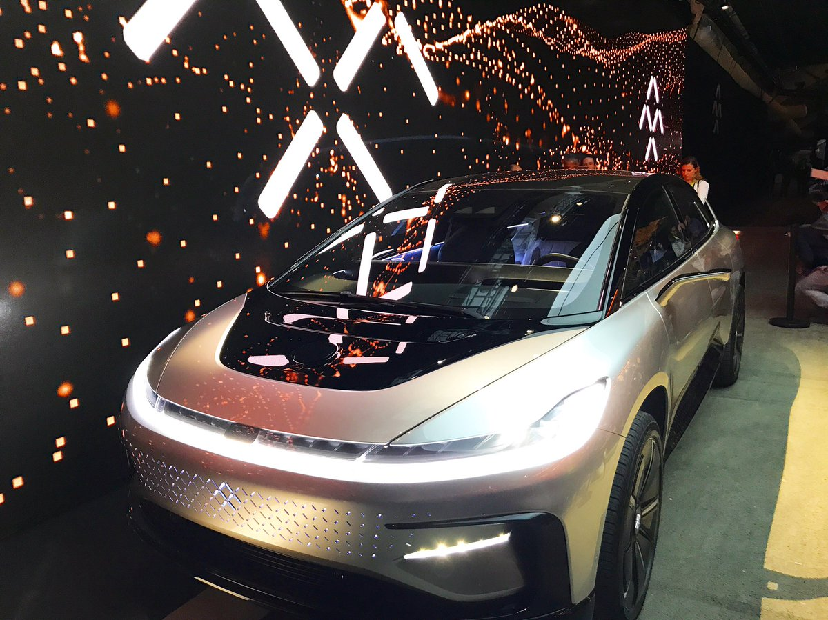 A Closer Look At The Faradayfuture Ff91 Ces2017 Company S First Electric Self Driving Car