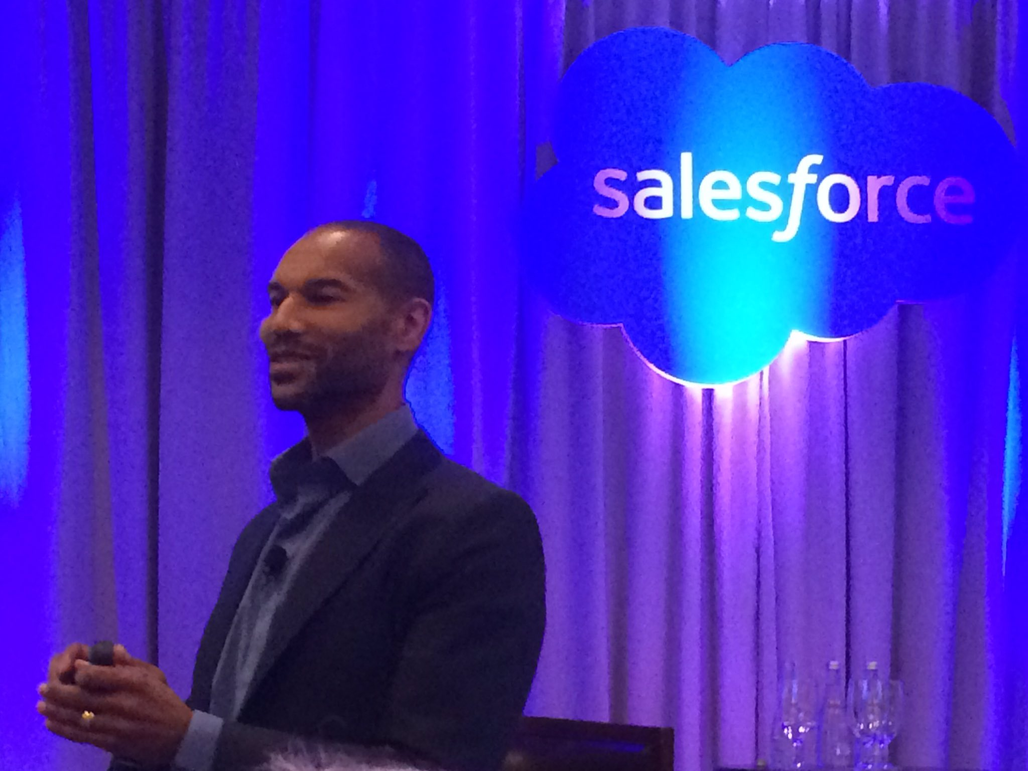 """Deep Listening,"" not deep learning, is core to 4 @salelesforce values says Tony Prophet, equality officer, at #salesforceAR https://t.co/wA2XFaDPZO"