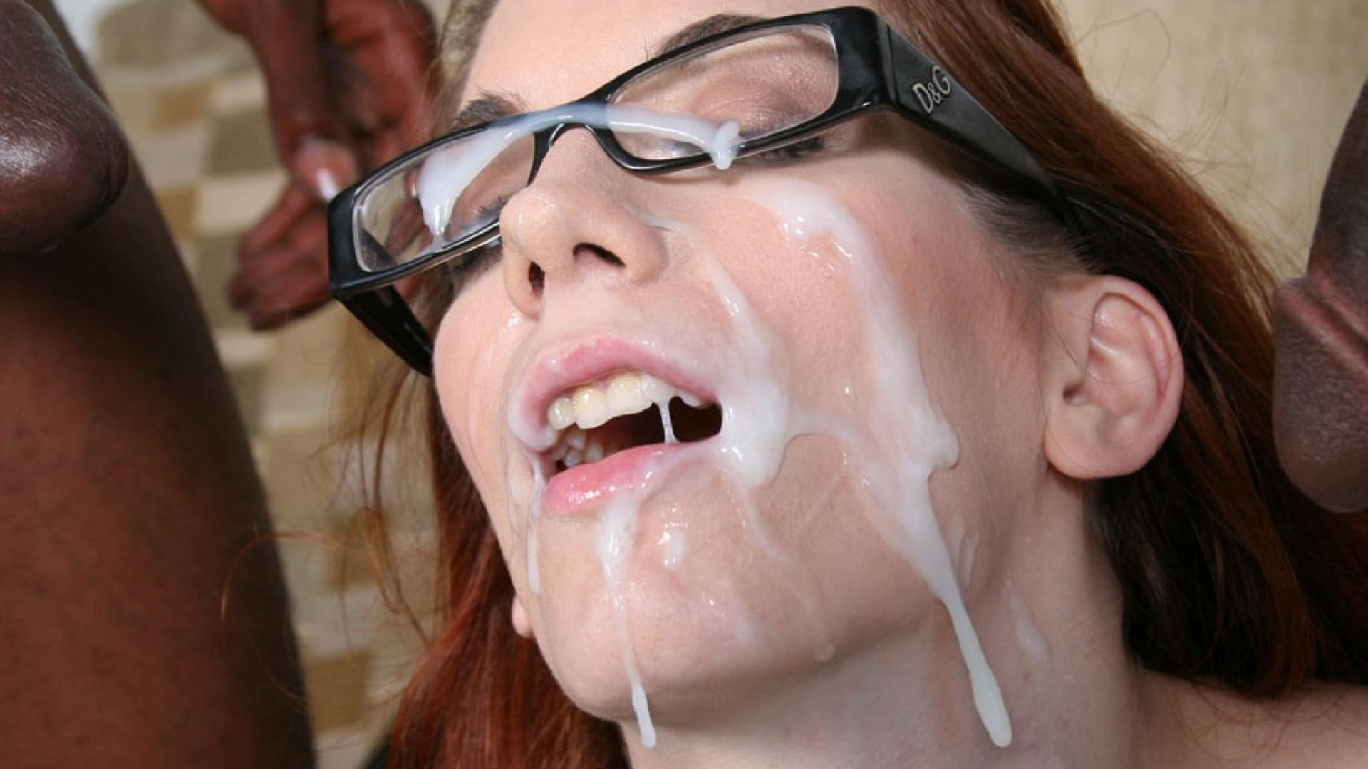 Cum facials tube showing