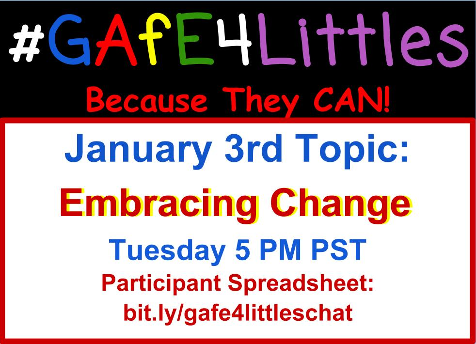 It's #GAfE4Littles chat time!! Hello! Pinto here, Kinder T from @ArcadiaUnified missed you the past two weeks! How was everyone's break? https://t.co/6MY4dToi2I