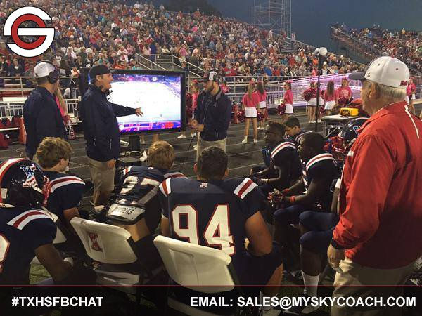 Your moderator tonight is @coachfisher_rp and   #TXHSFBCHAT is also sponsored by @Sky_Coach https://t.co/L19poc4wD3