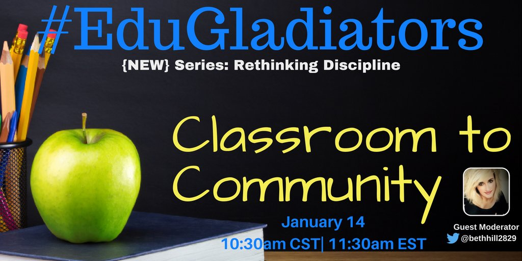 🍎#EduGladiators returns Jan 14 w/@bethhill2829 ▶️Join her LIVE afterwards https://t.co/llHTUz5i6u #currichat #FLEdChat #miched #edbeat https://t.co/hpqEDKYs01