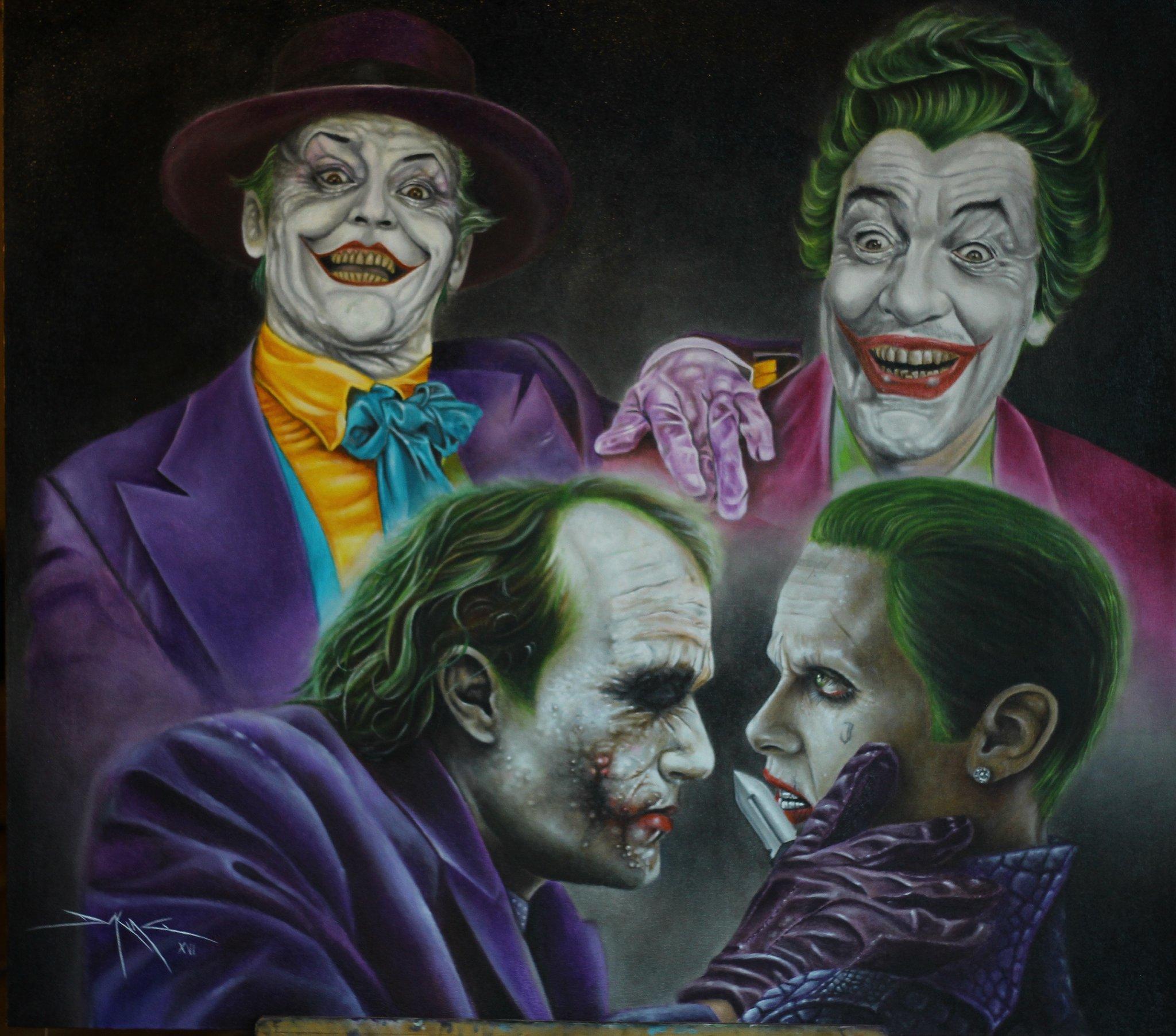 """Heath Ledger Vs Joaquin Phoenix Poll: Daking Y On Twitter: """"Jokers Poker. #cesarromero"""