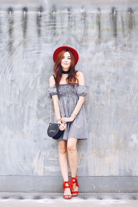 Gingham Dress Summer Outfit
