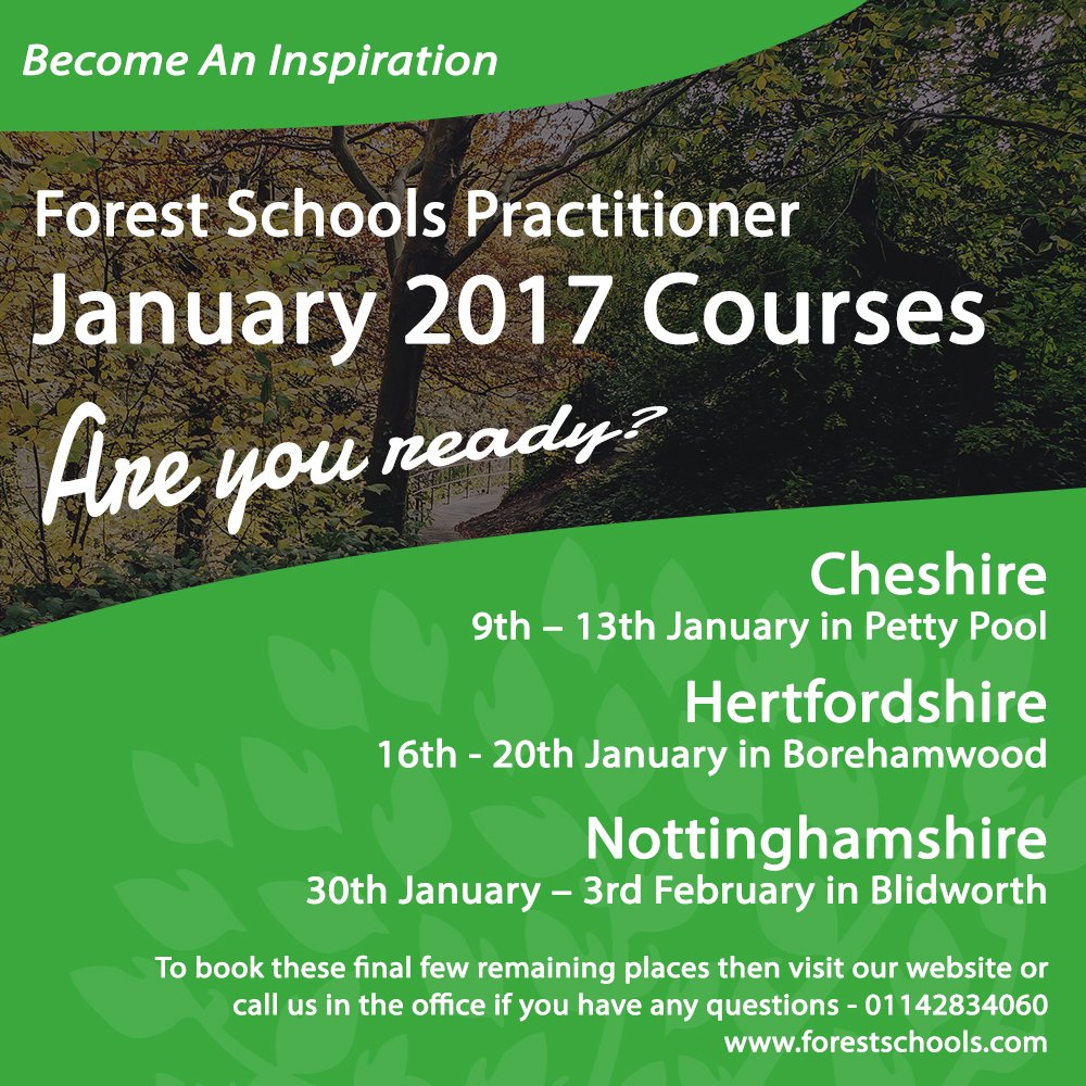 Here we are, 2017!   The start of the new year and new beginnings, start your journey now!  http://www. forestschools.com/book-a-course  &nbsp;   - #ForestSchools <br>http://pic.twitter.com/5wcM0OXn84