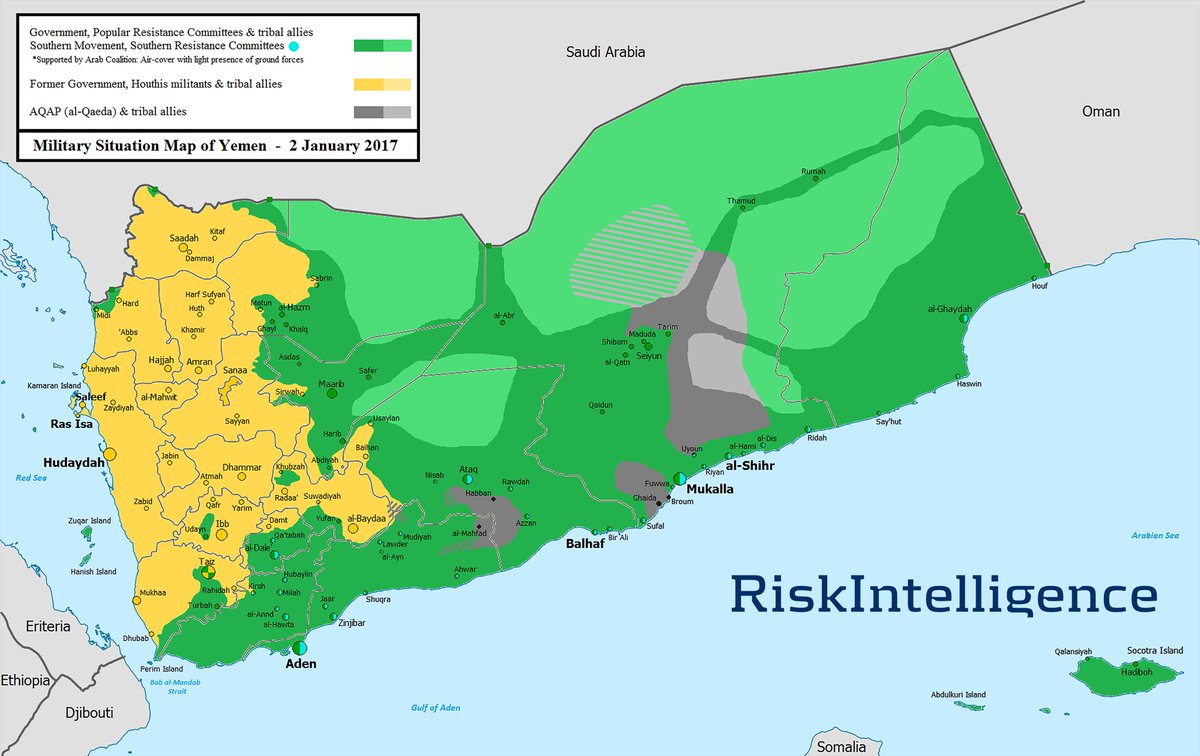 Yemen map: There are rumours that Oman has already shut down its border posts with Yemen, which may indicate a new development
