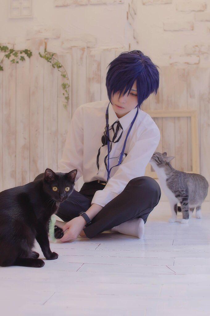 【コス写/P3】 猫とキタローさん  P3主*ナオキ photo*ニャン @sora33_suuka https://t.co/UrBiJAvbQ6