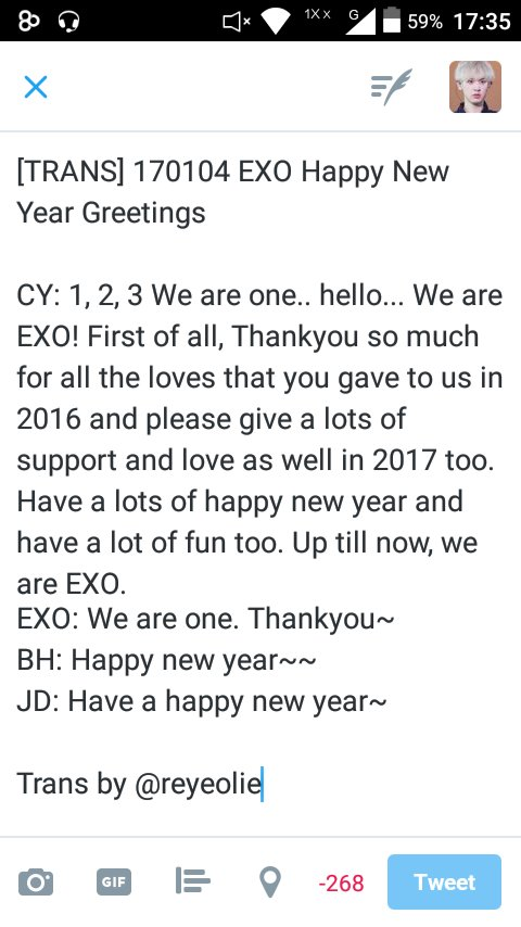 on twitter 170105 smtrue fb update exo greetings on twitter 170105 smtrue fb update exo greetings to thai fans exo hello thai fans i wish yall always be healthy have an enjoy year m4hsunfo