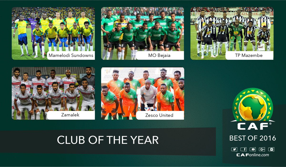 Club of the Year nominees #GloCAFAwards2016