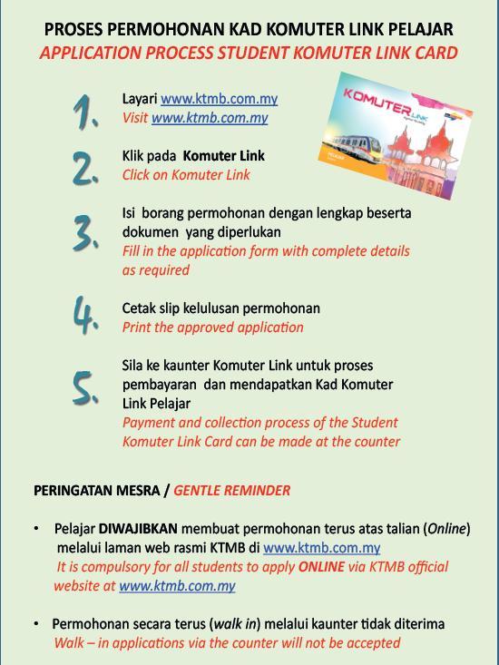 Ktmb 03 2267 1200 On Twitter Apply Kom Link Card For Student At Https T Co Hq4z254v8k