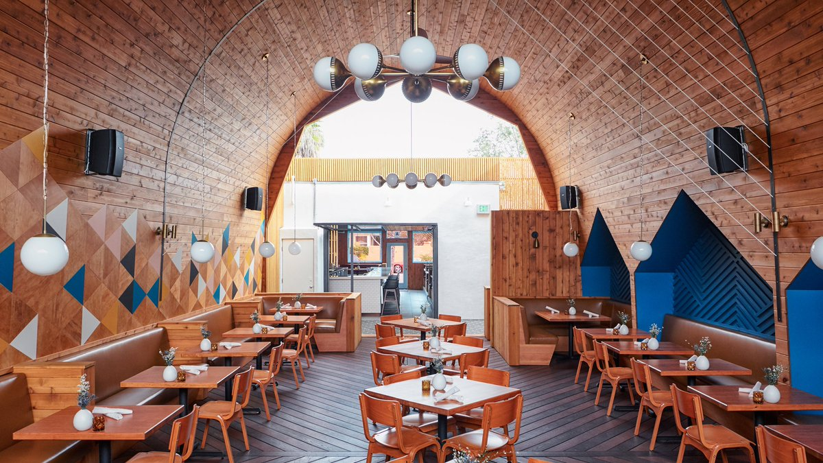Design For This Restaurant By Studio Archisects Dezeen 2017 01 03 Madison Cedar Clad Arched Ceiling San Diego