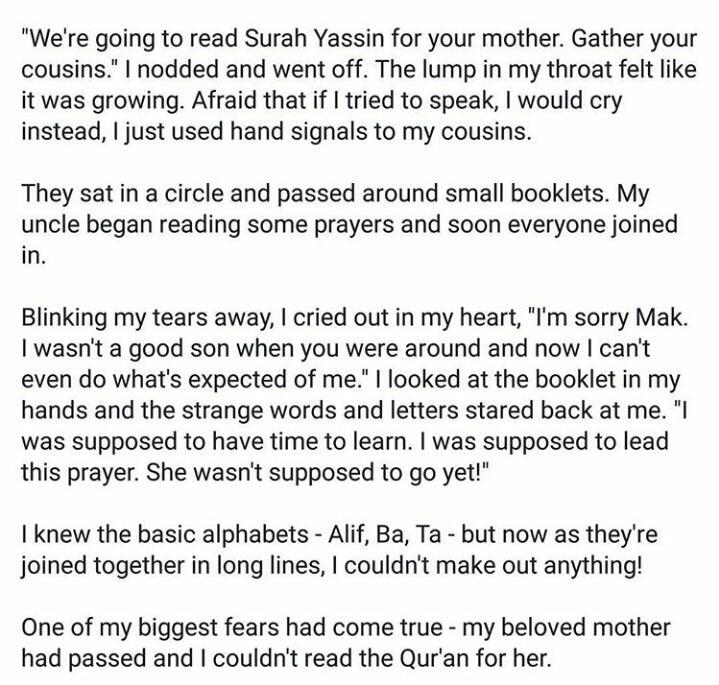 Sampai bila kita nak tangguh belajar agama dan quran? This particular read broke me
