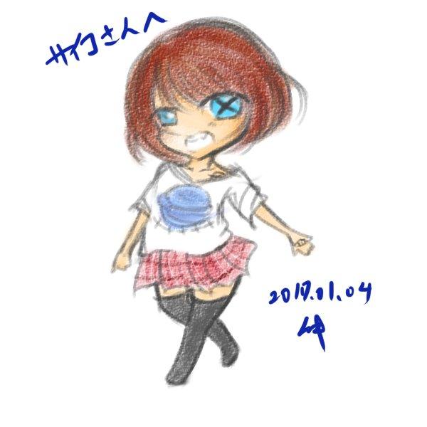 サイコさん(@saico_tan) 色々いらっしゃるんですが、気になった子を描かせていただきました。 色は想像なので違っていたら本当にすみません……! #ふぁぼしてくれた人の創作っ子を自分の絵柄で描く