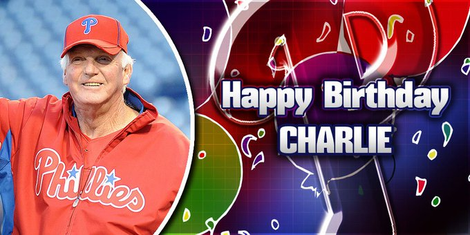 Happy Birthday to the winningest manager in history, Charlie Manuel!