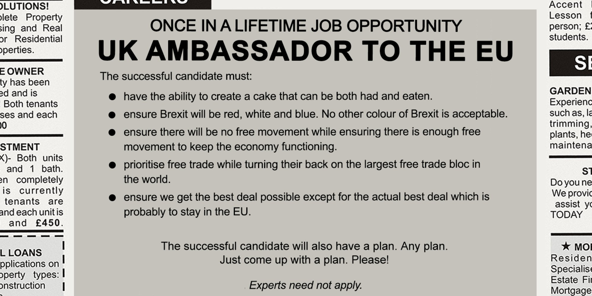 Looks like the government's job ad for ambassador to the EU is already up. (done for @huffpostukcom) https://t.co/e9OoMIdpCh