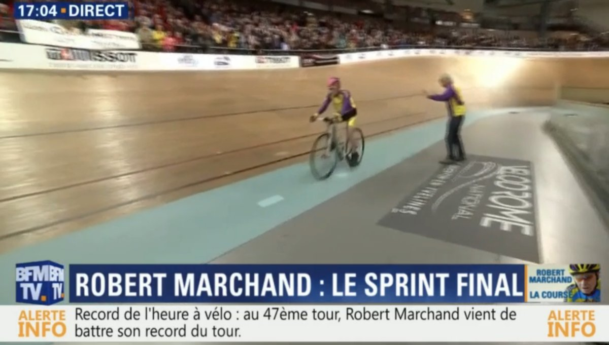 105 year old Robert Marchand breaks his own hour record with a distance of 22.547km https://t.co/UA92dnIrzM