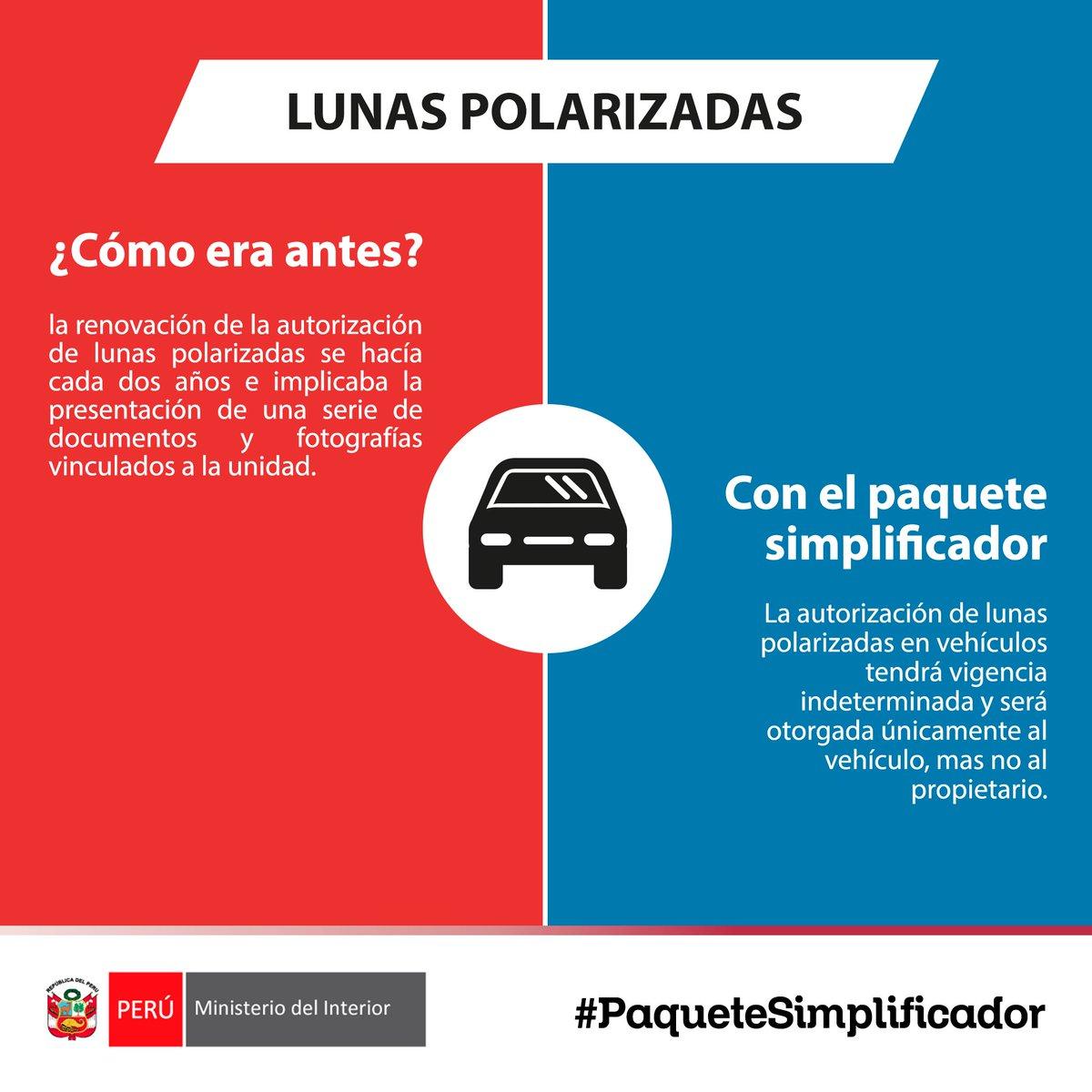 Mininter per on twitter simplificaci n de permiso de lunas polarizadas busca facilitar tr mite a los ciudadanos
