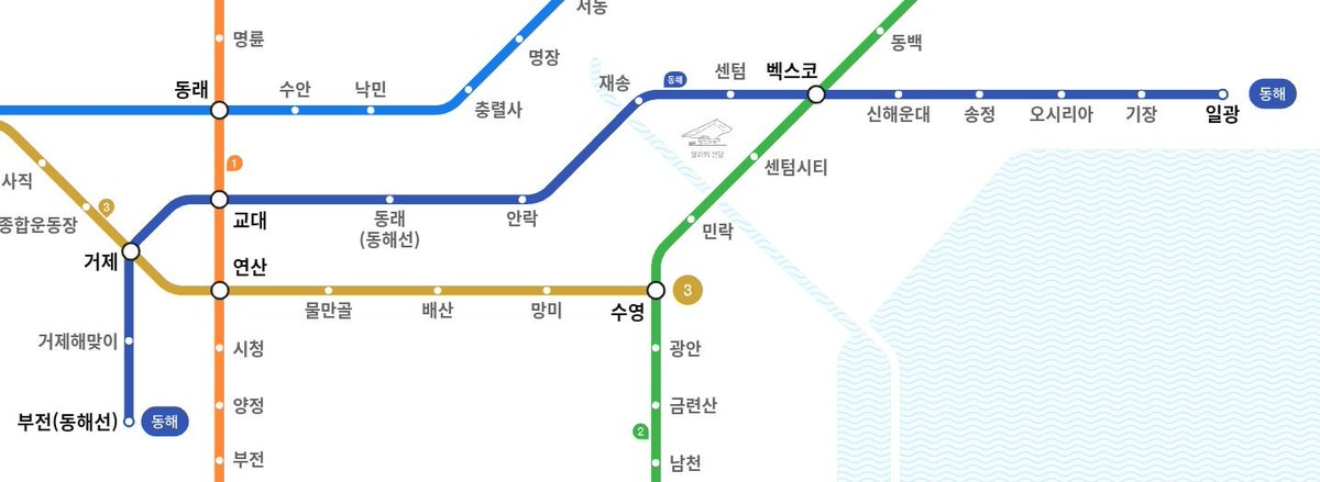 Busan Subway Map 2017.Kojects On Twitter The Donghae Line Dark Blue Line Brings The