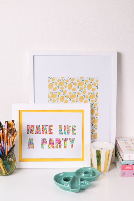 Add a Pop of Color with DIY Typographic Confetti Art