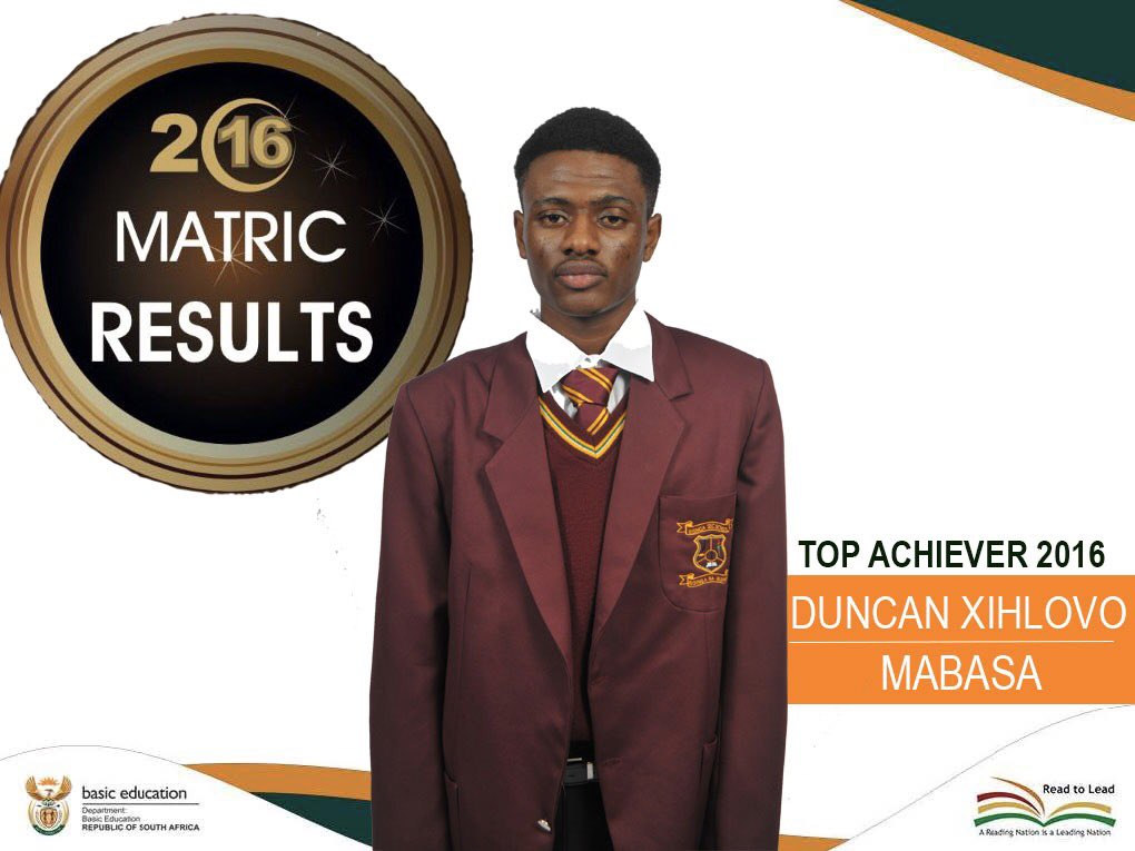 Top Physical Science Learner #NSC2016 from Risinga High School, Limpopo: https://t.co/GyeCgNmvxV