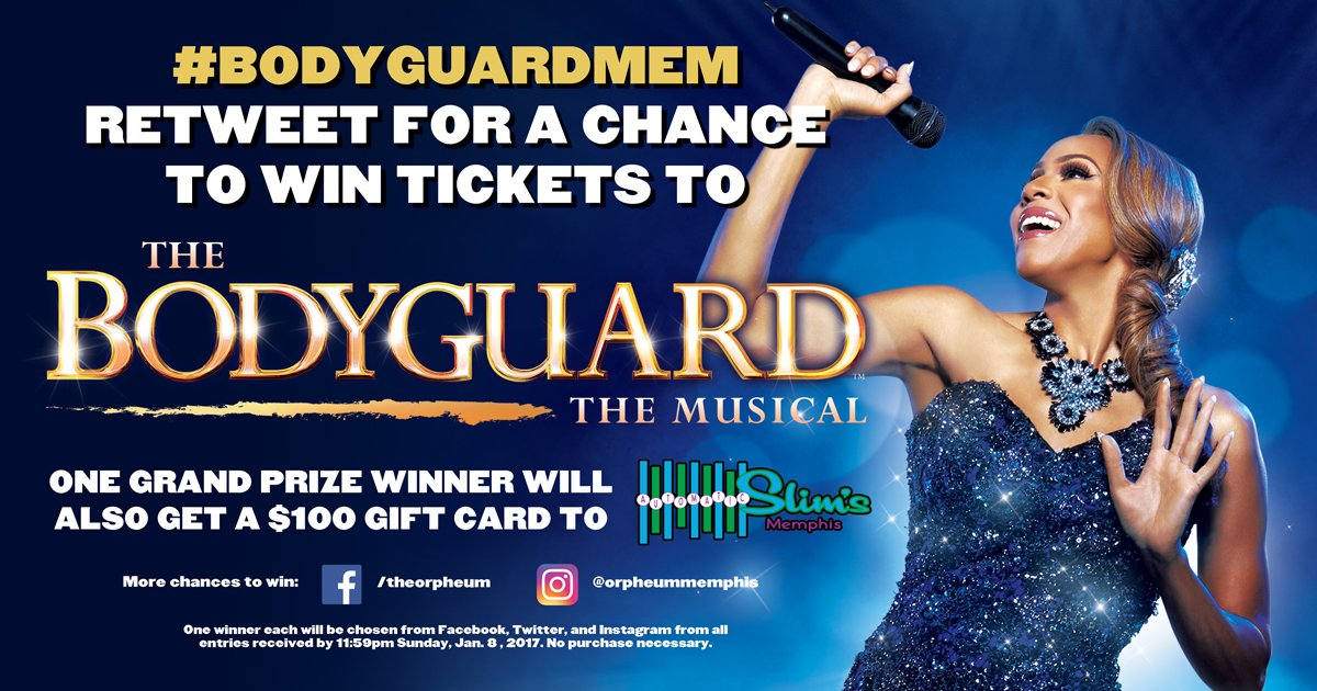 Retweet for a chance to win tickets to #BodyguardMEM with @Deborah_Cox! Details: https://t.co/BMbOk5VuPB. https://t.co/wxuOwNGeWv