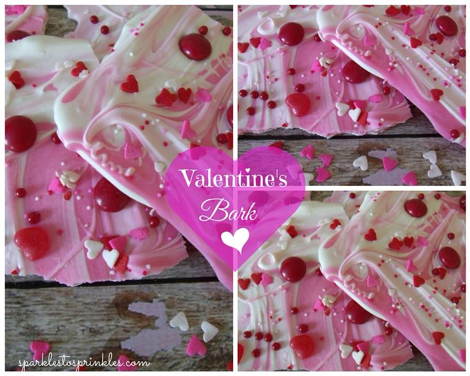A fun and festive treat for >>> Valentine\'s Bark
