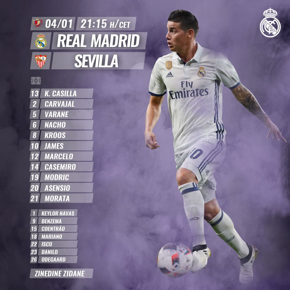 Real Madrid vs Sevilla C1WTMQTWQAAZT99