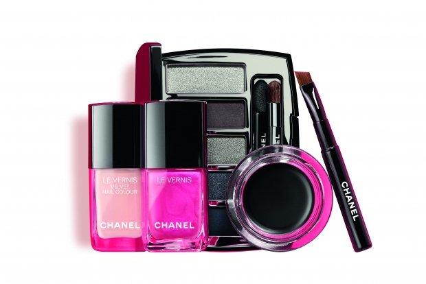 Pink collection of makeup by Chanel