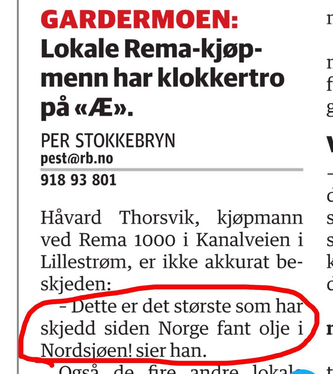 En lokal Rema-kjøpmann drar på om Æ.. https://t.co/a9ekcYXa8G