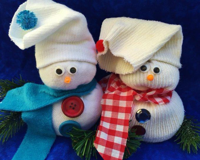 Simple Sock Snowman