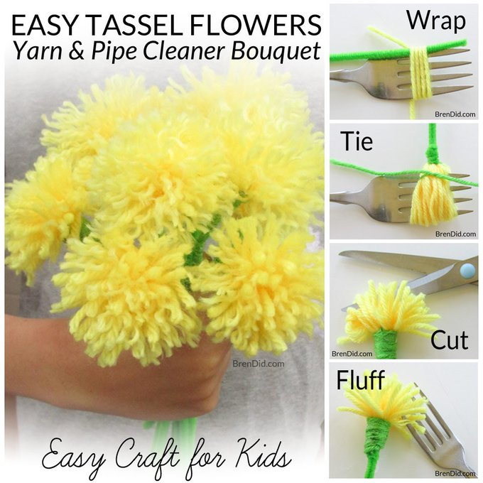 How to Make Tassel Flowers