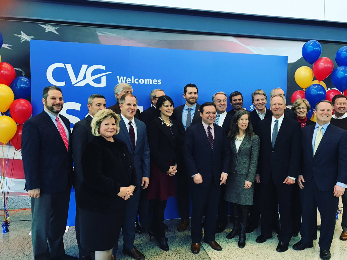 Welcome @SouthwestAir to CVG! What an exciting success  for our region! #CVG #southwest https://t.co/2dSfdPRSX9