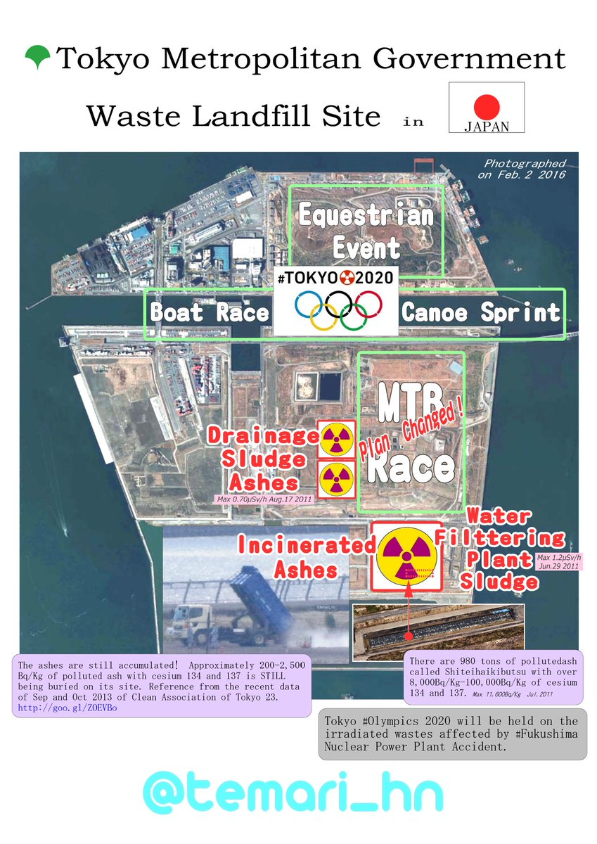 ★Pls Share☆  #Tokyo #Olympics 2020 will be held on the irradiated wastes affected by #Fukushima #Nuclear Accident.  https://t.co/ldlUSqYKH4