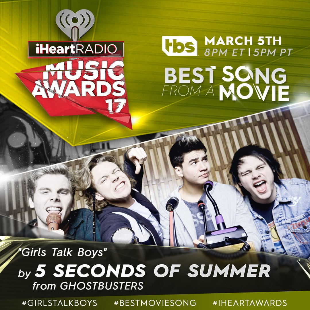 #5SOSFAM! RT to vote @5SOS' #GIRLSTALKBOYS for #iHeartAwards #BestMovieSong! https://t.co/NF3JpsHQMq