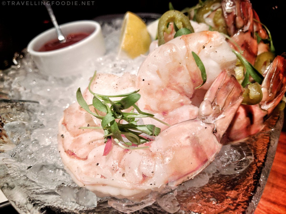 Travelling Foodie Eats SHRIMP COCKTAIL at STK in The Cosmopolitan of Las Vegas