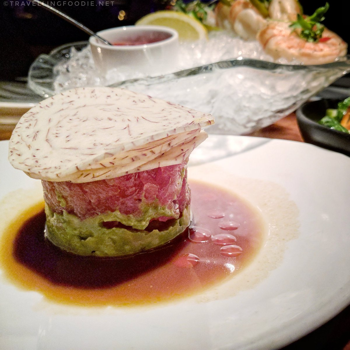 Travelling Foodie Eats HAWAIIAN BIG EYE TUNA TARTARE at STK in The Cosmopolitan of Las Vegas