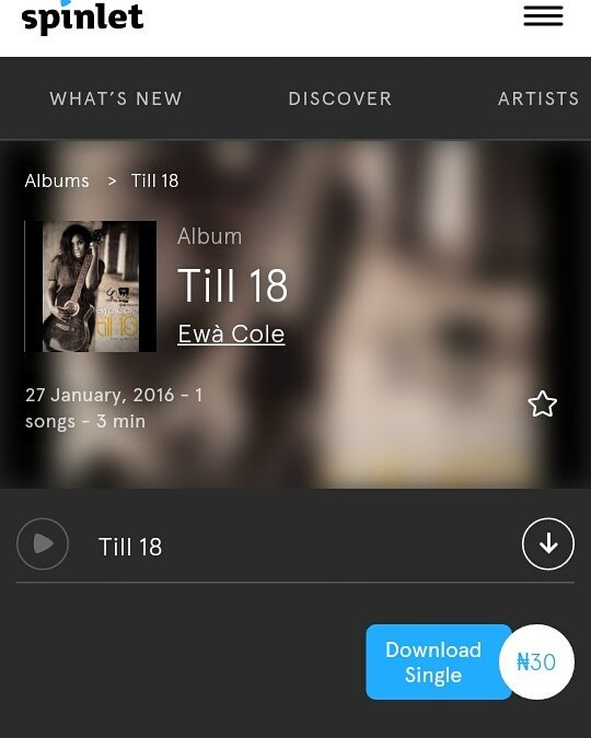 "Helo luv! If u love me and u aven't listened 2 ""till 18"" u can stream or download it on spinlet link in bio"
