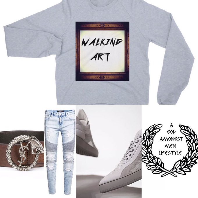"🔥#agodamongstmenlifestyle #ootd 🔥 ""walking Art""-"