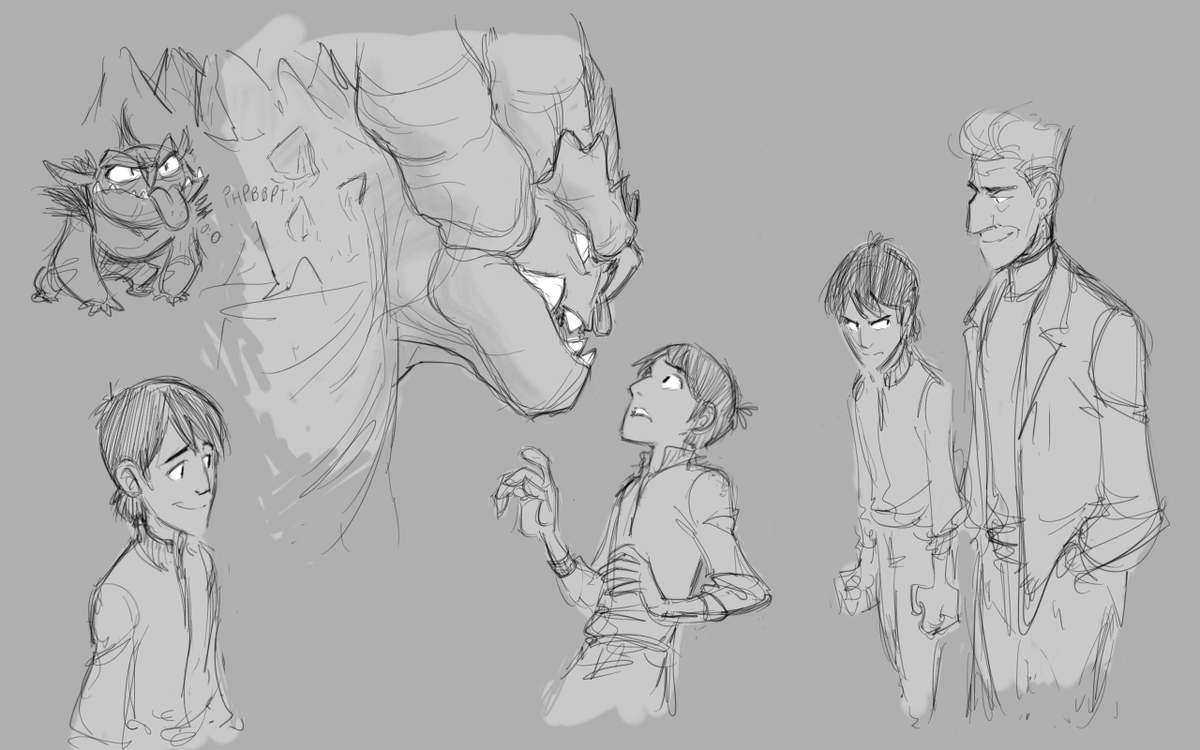 Doodles. I feel there's a story itching to be told, at the edge of my thoughts. More comics one day? #trollhunters https://t.co/Z9mZUSQEJR