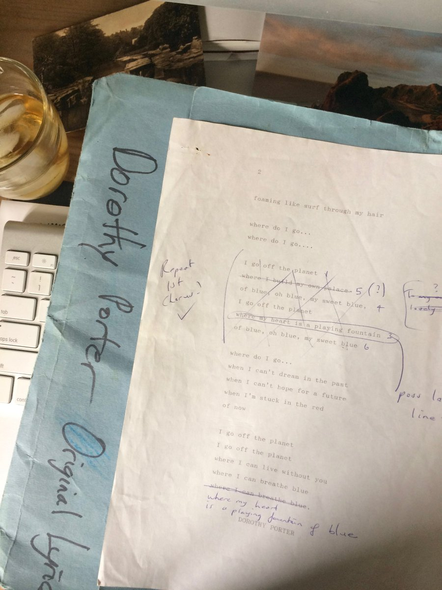 Found the folder. Dorothy Porter original typed lyrics. Looking forward to performing The Fiery Maze, Magic Mirrors Spiegeltent. #SydFest https://t.co/Iw46sDgngE