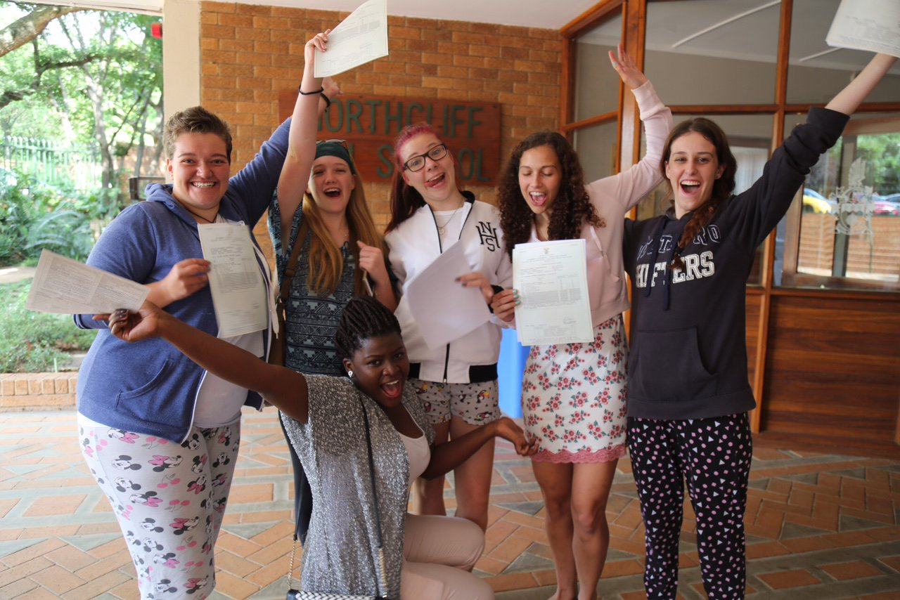 #MatricResults2016 We made it! Northcliff High School candidates celebrate. Go to https://t.co/Fke79fDMbj to get your results! https://t.co/v92SS9RScJ