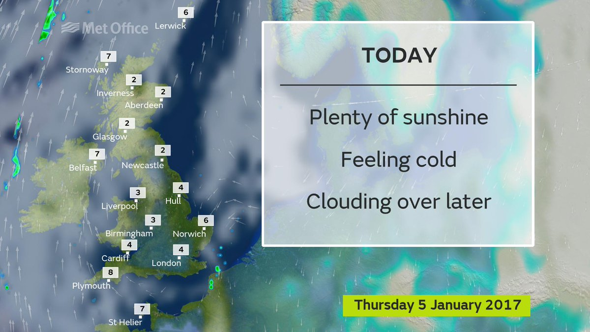 It will still feel cold today and a severe weather warning is in place because of icy patches on the roads
