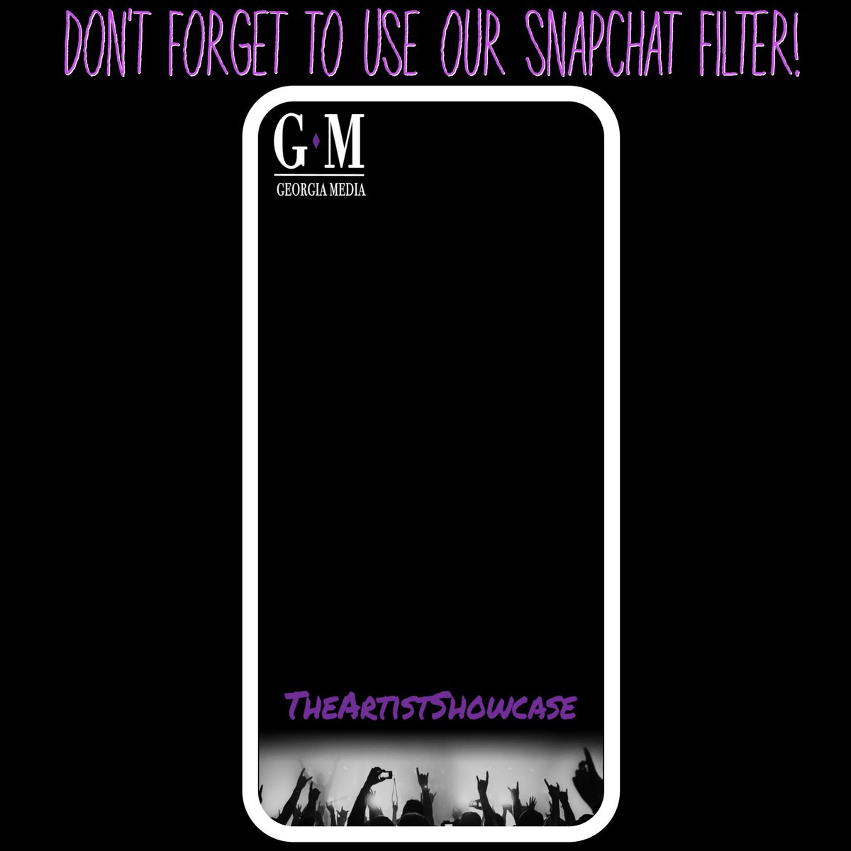 Our filter goes live tomorrow! Don&#39;t forget to use it at #TheArtistShowcase // #GeorgiaMediaAgency #snapchat #geofilter #media<br>http://pic.twitter.com/nuBS0LwYRj